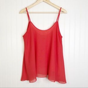 Tinley L sleeveless Coral blouse